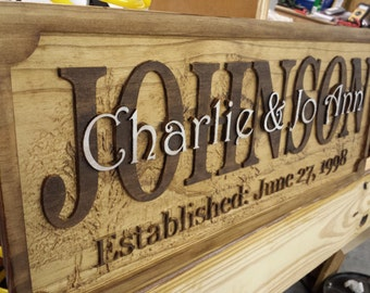 Personalized Rustic Anniversary Sign