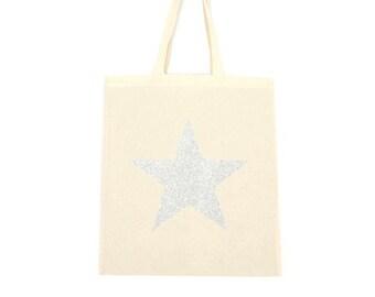 cotton tote bag, star bag