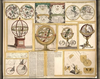 24x36 Poster; Astronomical Instruments Astronomy Tools 1769