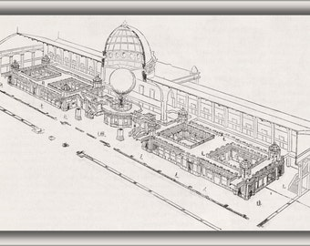 24x36 Poster; Cross Section Of Palais Des Arts Liberaux Designed By Formige 1889