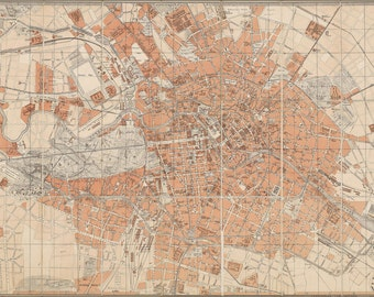 24x36 Poster; Berlin, Germany Map C1877