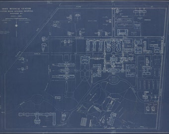 24x36 Poster; Map Of Walter Reed General Hospital, Washington, D.C., Post Map 1935