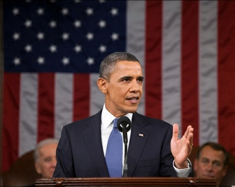 24x36 Poster; President Barack Obama Delivers The 2011 State Of The Union Address