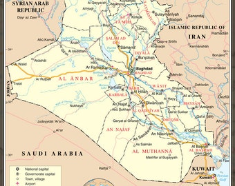 24x36 Poster; Iraq United Nations Map