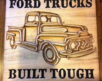 Ford Trucks Built Tough Sign