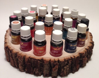 Essential Oil Stand/Display/Slab/Live Edge/Shelf holds up to 25 (15ml) bottles!