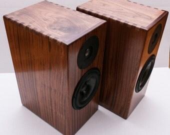 Real Hardwood 2-Way Bookshelf Speakers