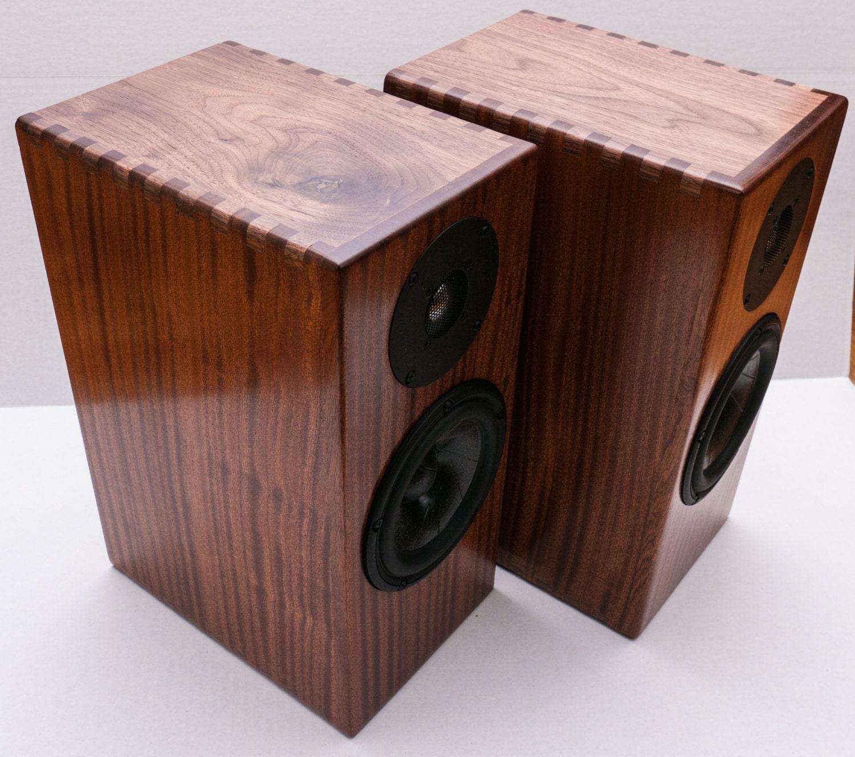 Real Hardwood 2-Way Bookshelf Speakers by DolmageDesigns ...