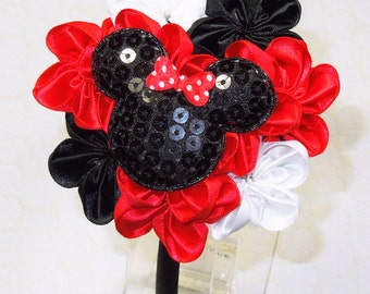 Minnie Mouse Headband, Trip to Disney Headband, Mickey Mouse Headband, Disney Mouse Headband