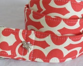 CATHY - 2 inch Premium D-Ring Belt - Cherry Red and White Print - Size Medium