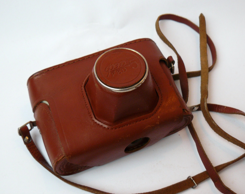 tui d 39 appareil photo vintage fed 5 sac tui en cuir. Black Bedroom Furniture Sets. Home Design Ideas
