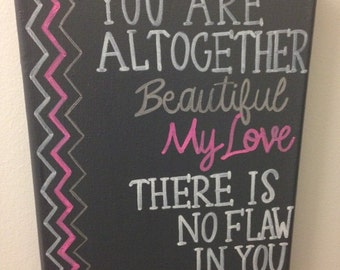 Bible Verse Hand Painted Canvas- Can Customize!
