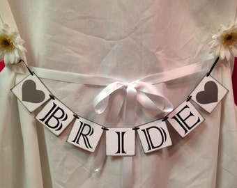 "Mini ""Bride"" Banner, Wedding Decoration, Reception Decoration"