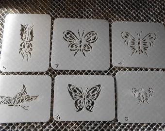 Temporary Airbrush Tattoo Stencil Misc. Butterflies Set 11!