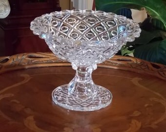 Flint Glass Compote Candy Dish