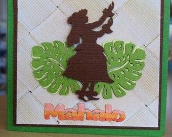 Hawaiian Themed Word for Cards