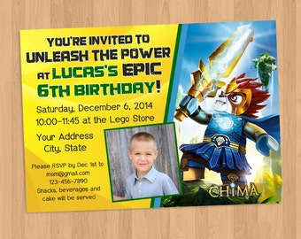 Lego Chima Laval Birthday Invitation Printable