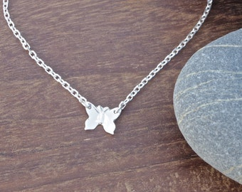 Silver Butterfly Necklace, silver necklace, wildlife jewellery