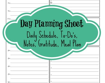 Printable Daily Planning Sheet