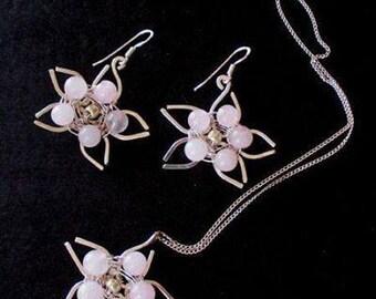 Delicate Flower , sterling silver 925, handmade jewelry.
