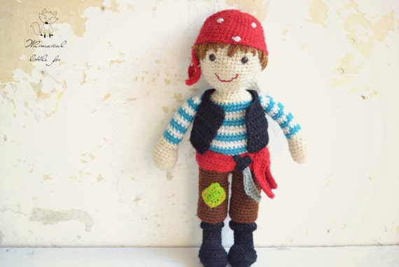 Amigurumi Doll Boy : Crochet pattern crochet pirate pattern pirate amigurumi