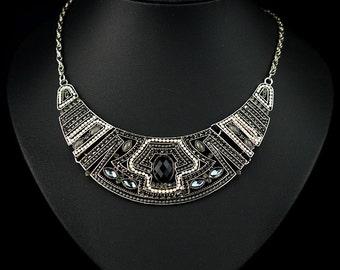 2015Woman Vintange Bohemia Crystal Choker Necklace NL01914