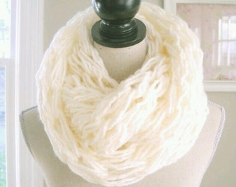 Chunky knitted scarves