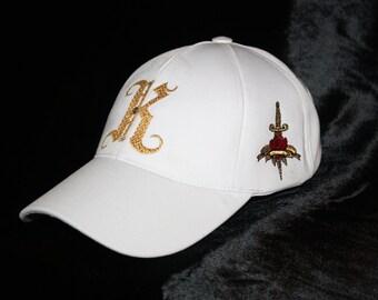 For Him Monogrammed Hat by Charles King Paris Men Baseball Cap Golf, Tennis and  Glam Rock Urban Wear
