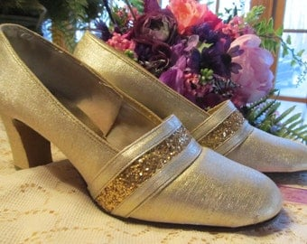 1970's Gold Bridal/Evening Shoes