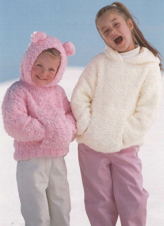 Knitting Pattern For Baby Cardigan With Hood And Ears : Items similar to Knit Hooded Sweater with Ears Kids ...