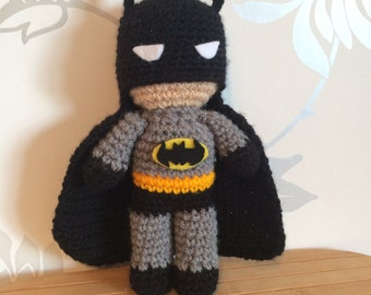 Batman Amigurumi Figure Doll with cape