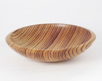 "Zebrawood bowl #84, 7.75"" in diameter, 2"" tall"