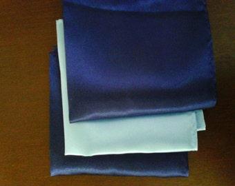 Something Blue Wedding Handkerchief- Navy