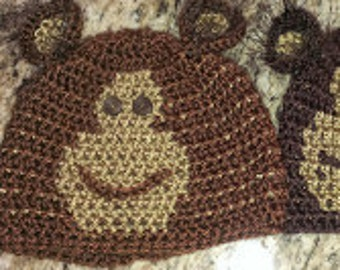 Monkey beanie for your favoriteperson!