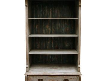 French Bookcase W/ Bottom Drawer