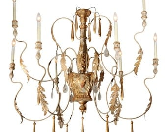 Carved and Gilded Italian Chandelier