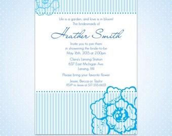 Printable Bridal Shower Invitation - Sunday Stripe Bridal Shower Invitation