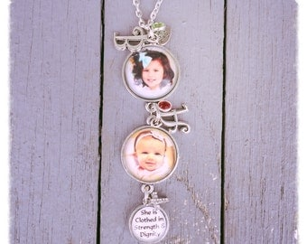 Personalized Trio Charm Necklace