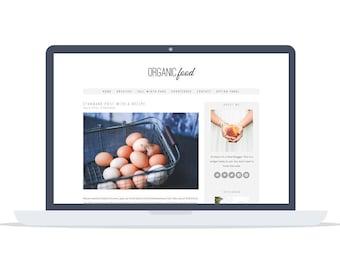 Organic Food - Wordpress Theme - Premade - Self Hosted - Wordpress Blog Theme - Responsive