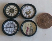 Job lot of three dolls house clocks and Wall Picture 1:12th scale Regal Range