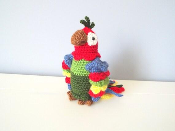 Crochet Amigurumi Ideas : Handmade Crochet Parrot doll toy Amigurumi Gift ideas Home