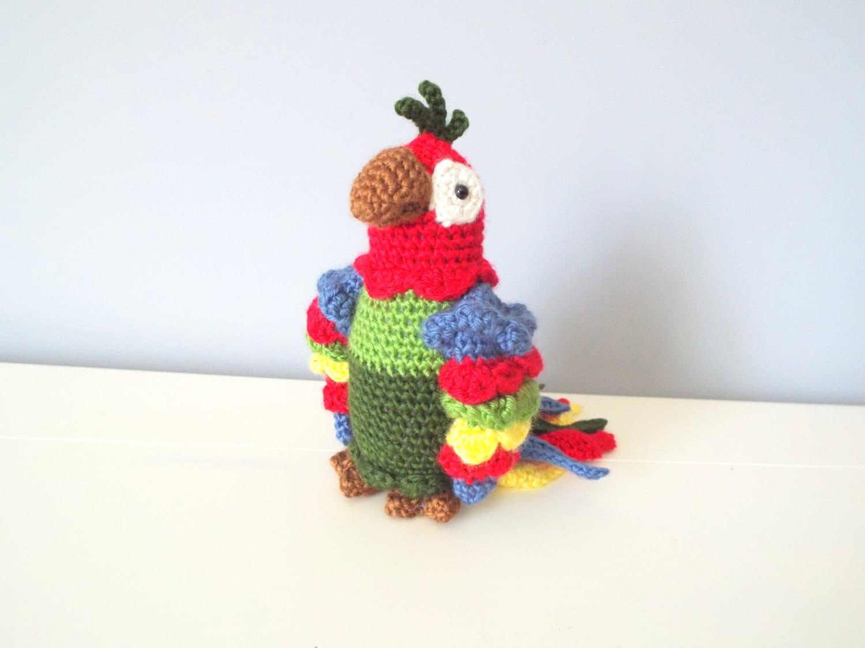 Handmade Crochet Parrot Doll Toy Amigurumi Gift Ideas Home
