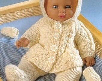 dolls clothes dk knitting pattern 99p