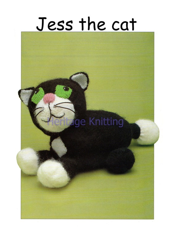Knitting Pattern For Jess The Cat : jess the cat toy or pyjama case dk knitting pattern 99p