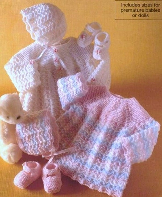 Knitting Pattern Baby Booties 4 Ply : girl / baby angel top bonnet and shoes 4 ply knitting pattern