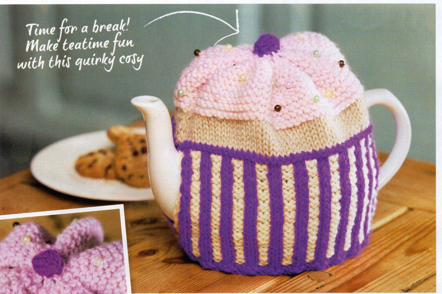 Knitting Pattern For One Cup Tea Cosy : cup cake tea cosy knitting pattern 99p