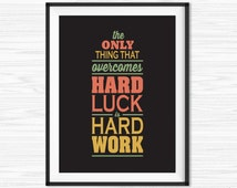Work Hard Quote Office Wall Art Motivational Wall Decor Inspirational Canvas Quotes Motivational Print Printable Sayings