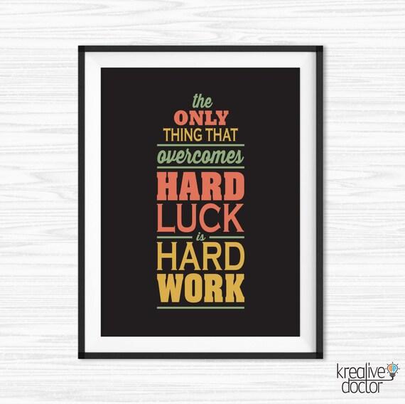Work Hard Quote Office Wall Art Motivational Wall Decor