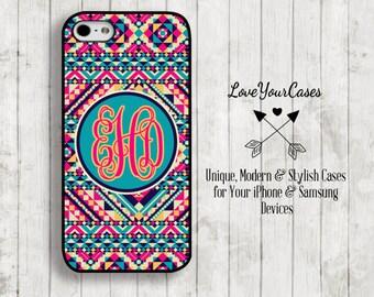 iPhone 6 Case, iPhone 6 Plus Case, iPhone 5 Case, iPhone 5c Case, Samsung Case, Monogrammed Case, iPhone Case, Aztec, Tribal Geometric, 591