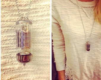 Vintage tube amp necklace